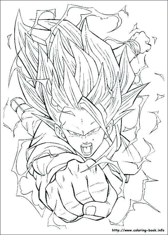567x794 Goku And Vegeta Coloring Pages Dragon Ball Gt Coloring Pages