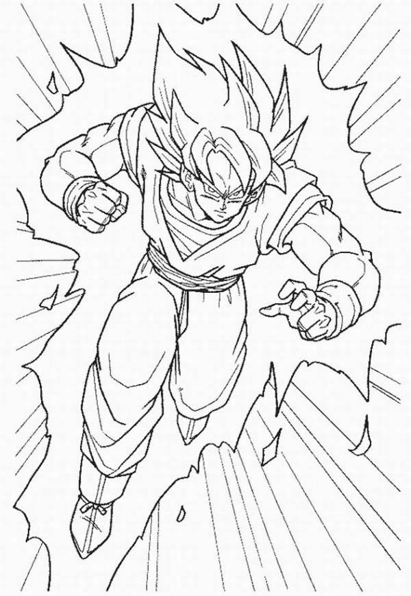 600x869 Goku Coloring Pages