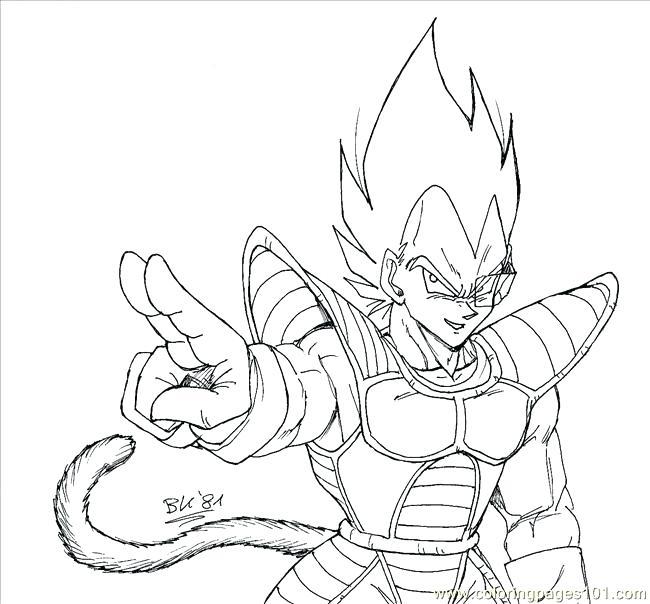 650x604 Goku Vs Vegeta Coloring Pages Bk Page Free Fuhrer Von