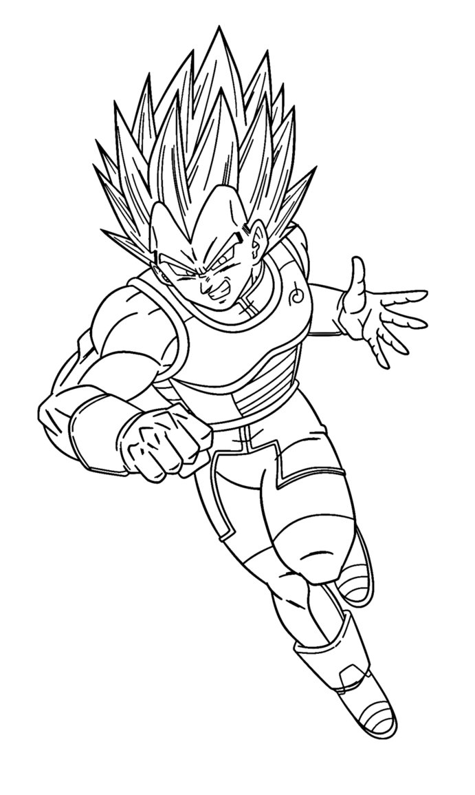691x1155 Greatest Vegeta Coloring Pages Growth Goku Sup