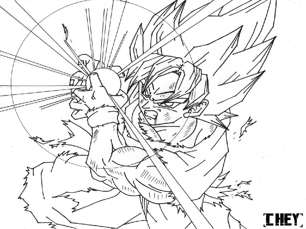 1024x768 Surprising Ideas Dragon Ball Z Coloring Pages Goku Vs Vegeta Black