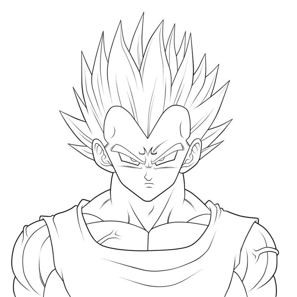 1024x1024 Unnamed Goku And Vegeta Coloring Pages