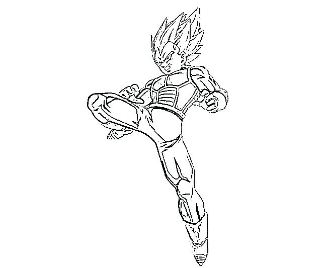 640x533 Vegeta Coloring Pages Cartoon Dragon Ball Z Vegeta Coloring Page H