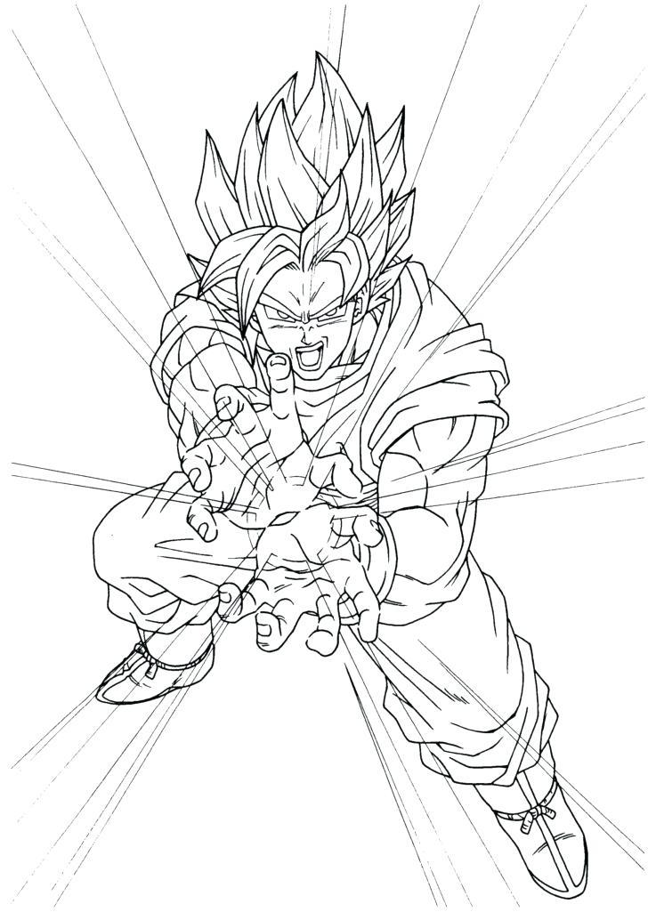 728x1025 Goku Coloring Sheets