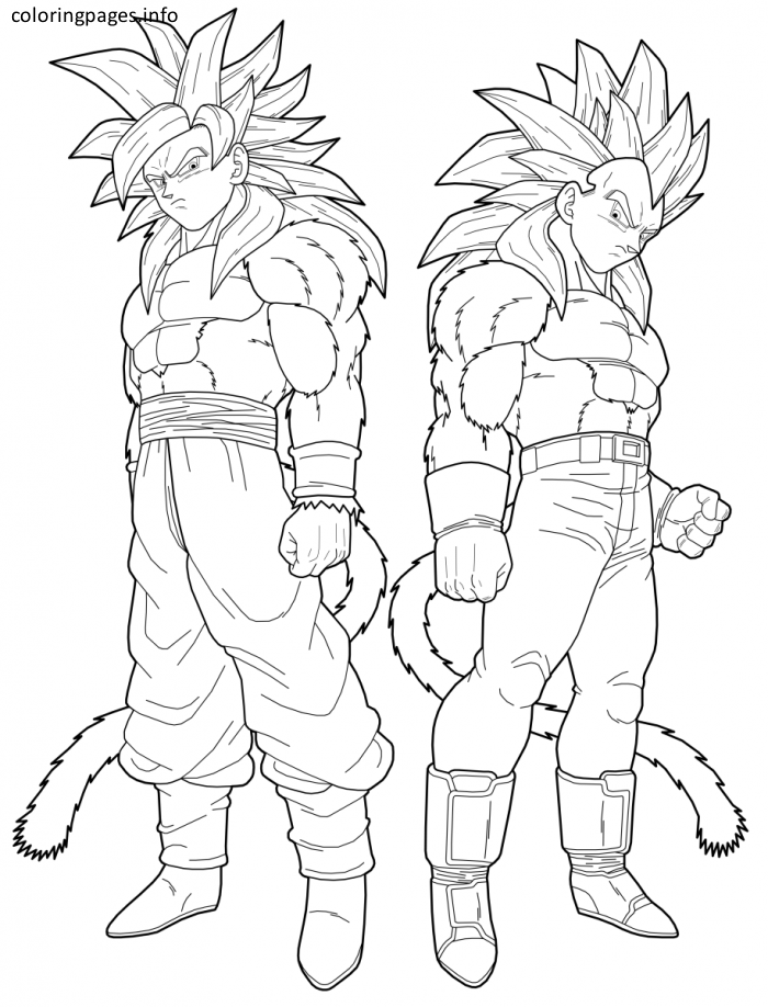 700x918 Vegeta And Goku Coloring Pages Dragon Ball Z Coloring Pages