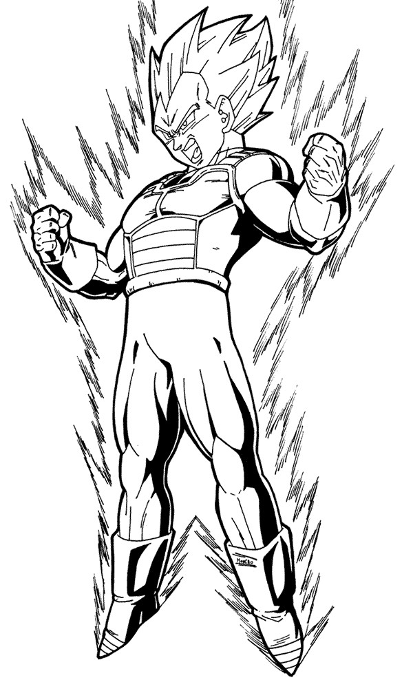 584x988 Coloring Pages Goku In Vegeta Free From Dragon Ball Z General