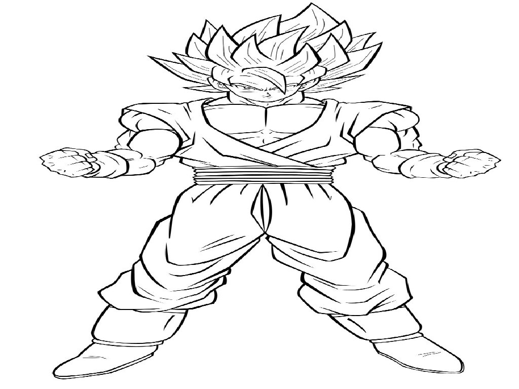 1024x768 Goku Printable Coloring Pages Unnamed