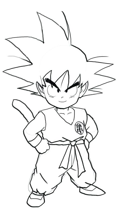 Goku Printable Coloring Pages