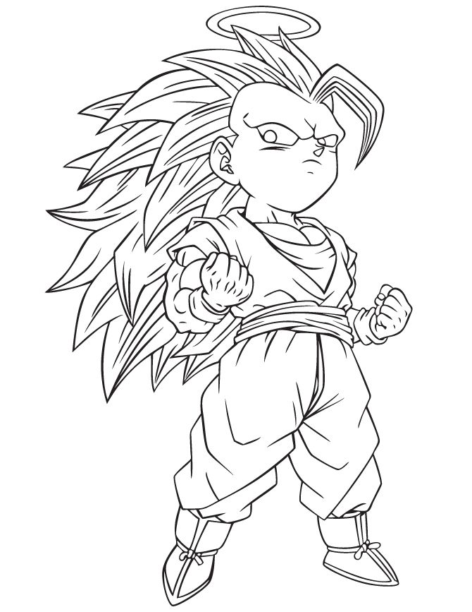 Goku Printable Coloring Pages at GetDrawings.com | Free for personal ...