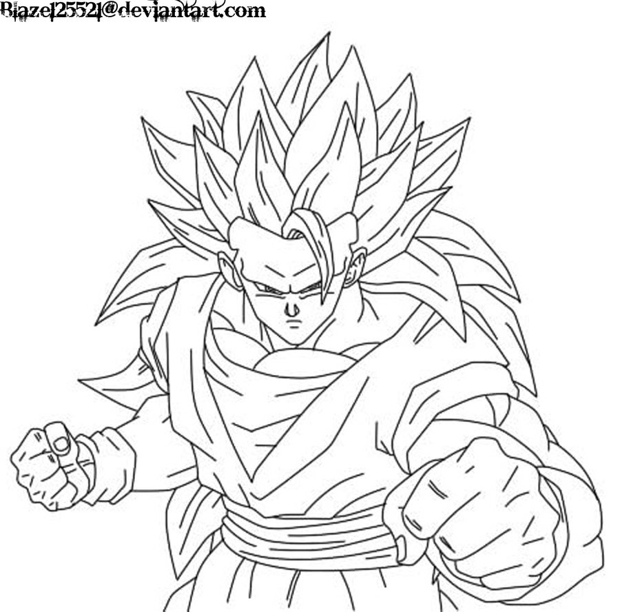Goku Ssj Coloring Pages