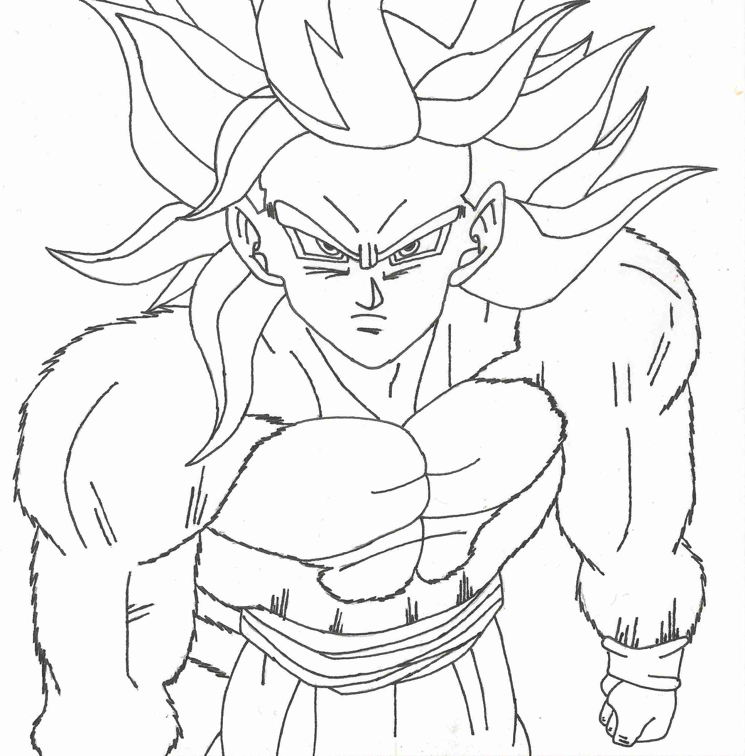2431x2467 Dragon Ball Z Super Saiyan Coloring Pages Best Of Dragon Ball Z