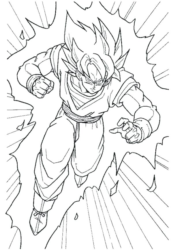 600x869 Goku Coloring Page Coloring Sheets Goku Super Saiyan Coloring