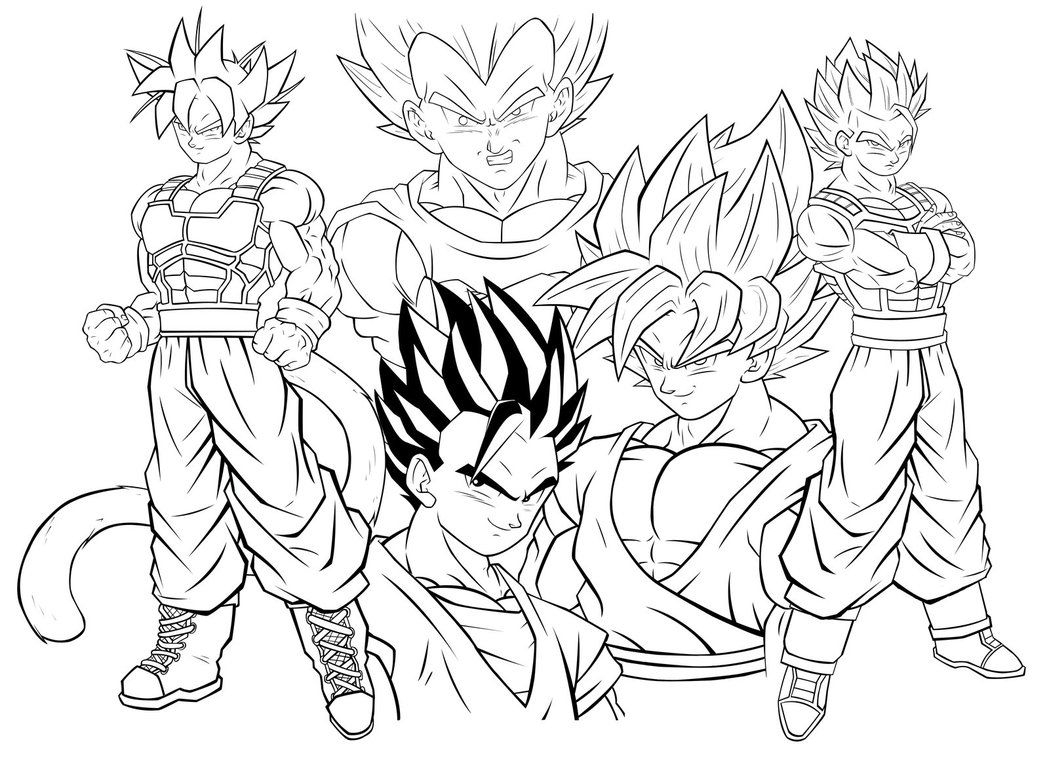 1049x761 Authentic Goku Super Saiyan Coloring Pages Dragon Ball