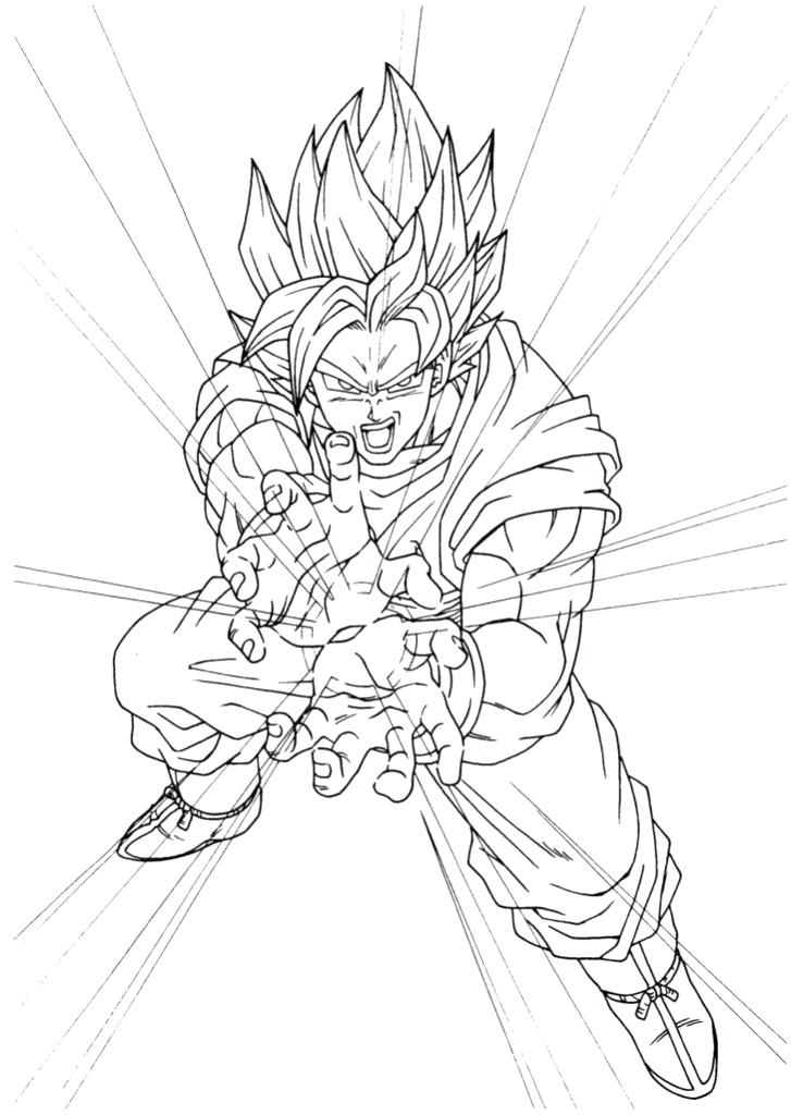 727x1024 Goku Ssj Coloring Pages Coloring Pages Dragon Ball Z Super