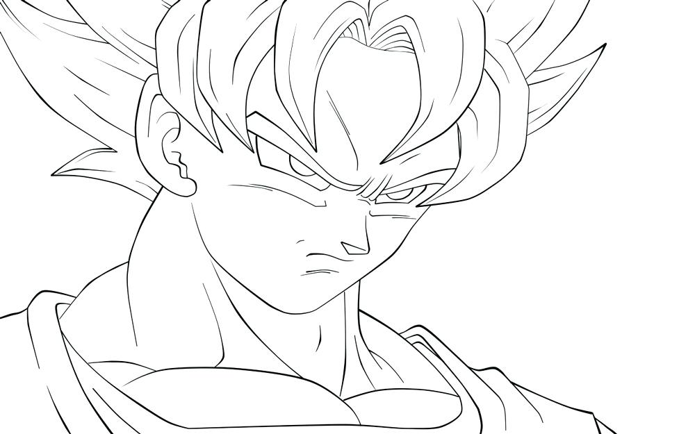 1000x625 Goku Super Saiyan Coloring Pages Printable Coloring Dragon Ball
