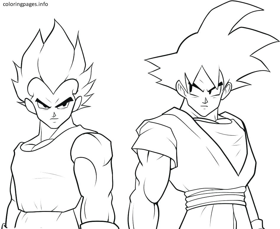 947x775 Ideas Goku Coloring Pages And Black Coloring Pages Goku