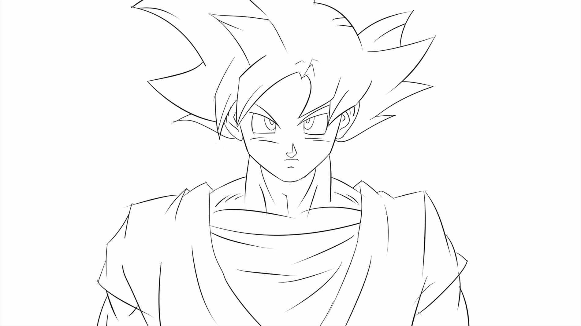 1899x1068 Best Of Dragon Ball Z Super Saiyan Coloring Pages Fresh Goku