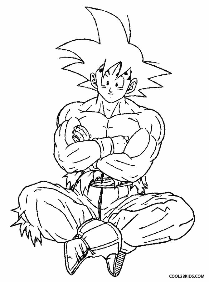 670x902 Printable Goku Coloring Pages For Kids