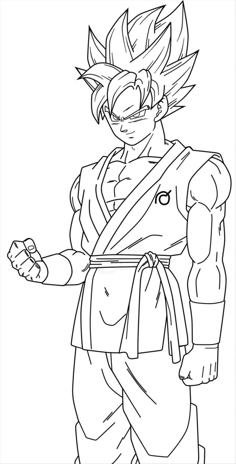 768x1512 Revisited Goku Super Saiyan Coloring Pages P