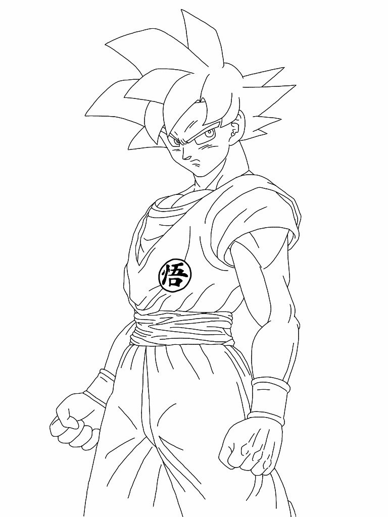 768x1024 Super Saiyan God Coloring Pages