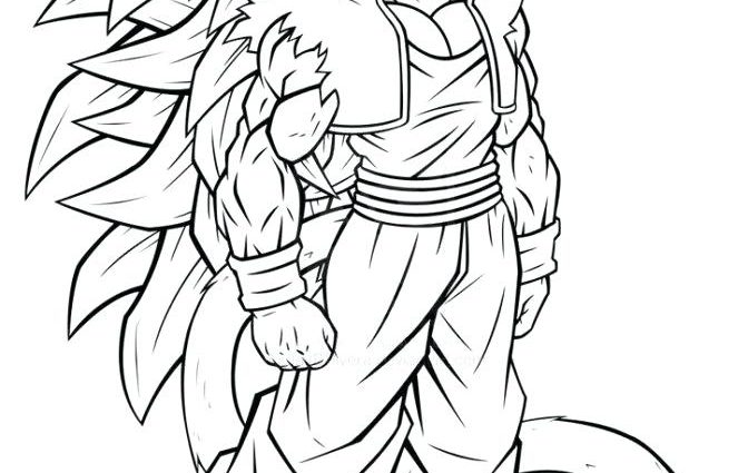 672x425 Coloring Pages Of Goku Super Saiyan Goku Ssj Coloring Pages