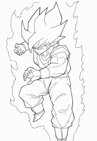 381x550 Goku Coloring Pages Goku Super Saiyan Drawing