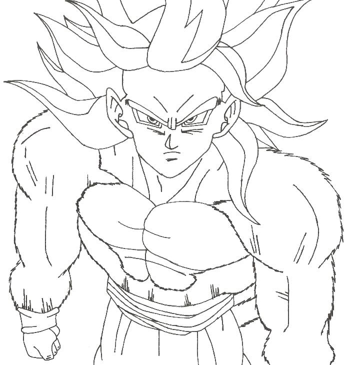 700x730 Coloriage De Manga Dragon Ball Z, Dessin San Gohan Nous Dit