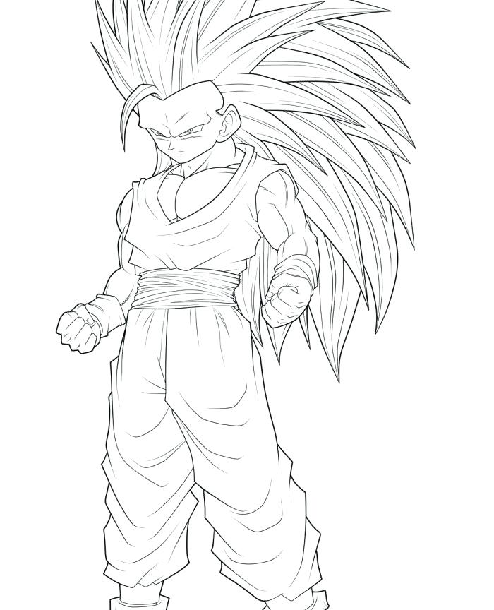 700x864 Dbz Goku Coloring Pages Printable Coloring Dragon Ball Z