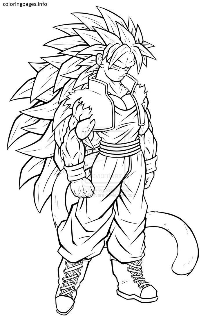 724x1104 Free Goku Coloring Pages Dragon Ball Z Super Saiyan Games Online