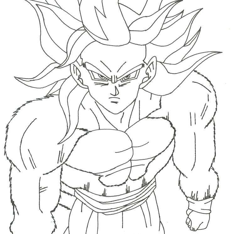 736x746 Gogeta Coloring Pages How To Draw Kid Dragon Ball Z Gt Sheets