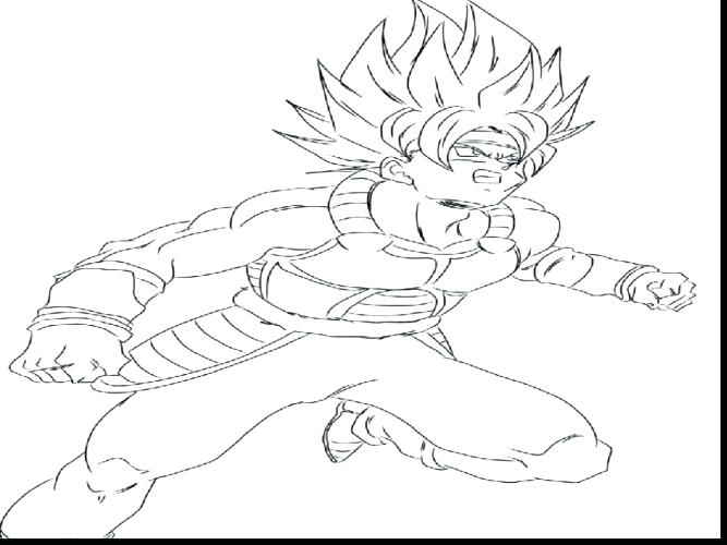 667x500 Goku Coloring Pages Coloring Pages Dbz Goku Coloring Pages
