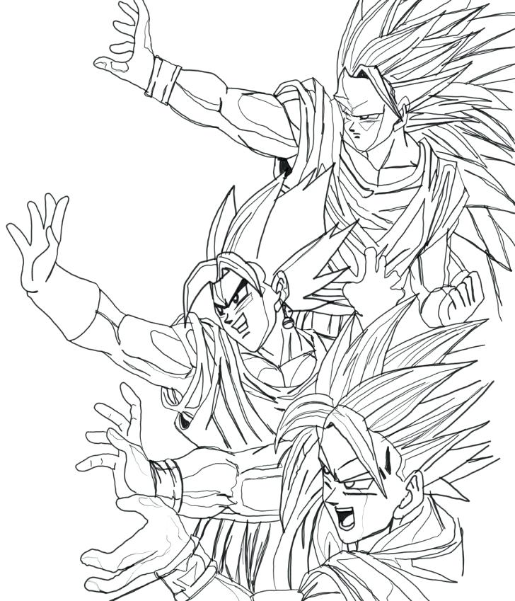 728x849 Goku Coloring Pages Coloring Pages Son Goku Coloring Pages