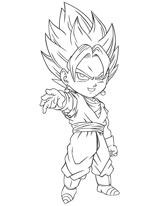 670x867 Goku Coloring Pages