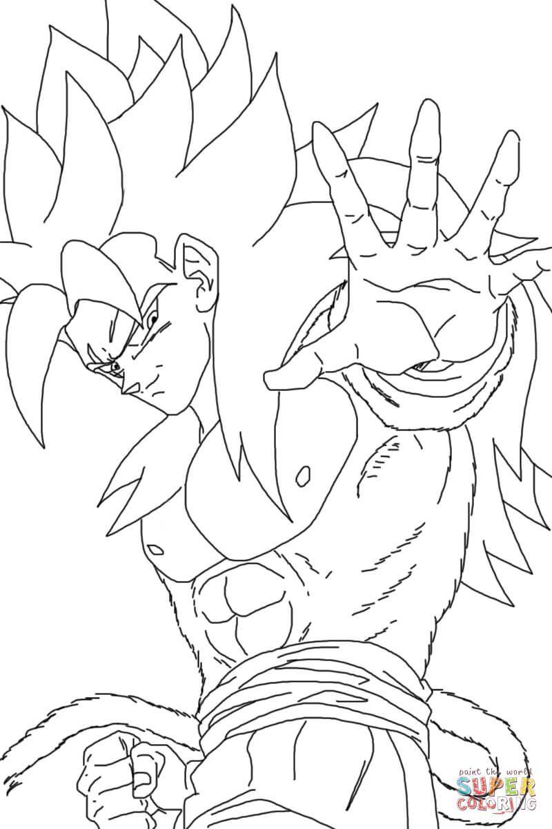 800x1200 How To Draw Goku Super Saiyan Coloring Page Free Download