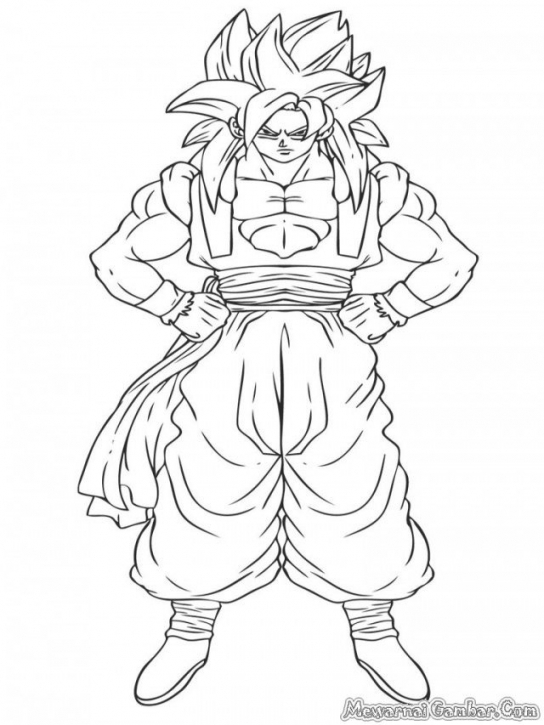 544x725 Adorable Gogeta Coloring Pages Printable To Pretty Gogeta