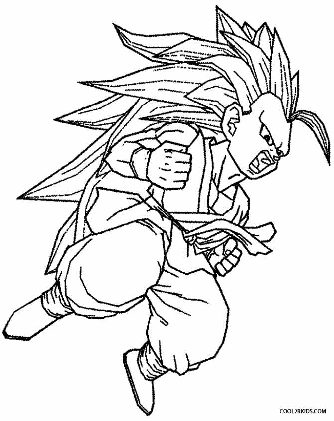 670x846 Printable Goku Coloring Pages For Kids Misc Ideas