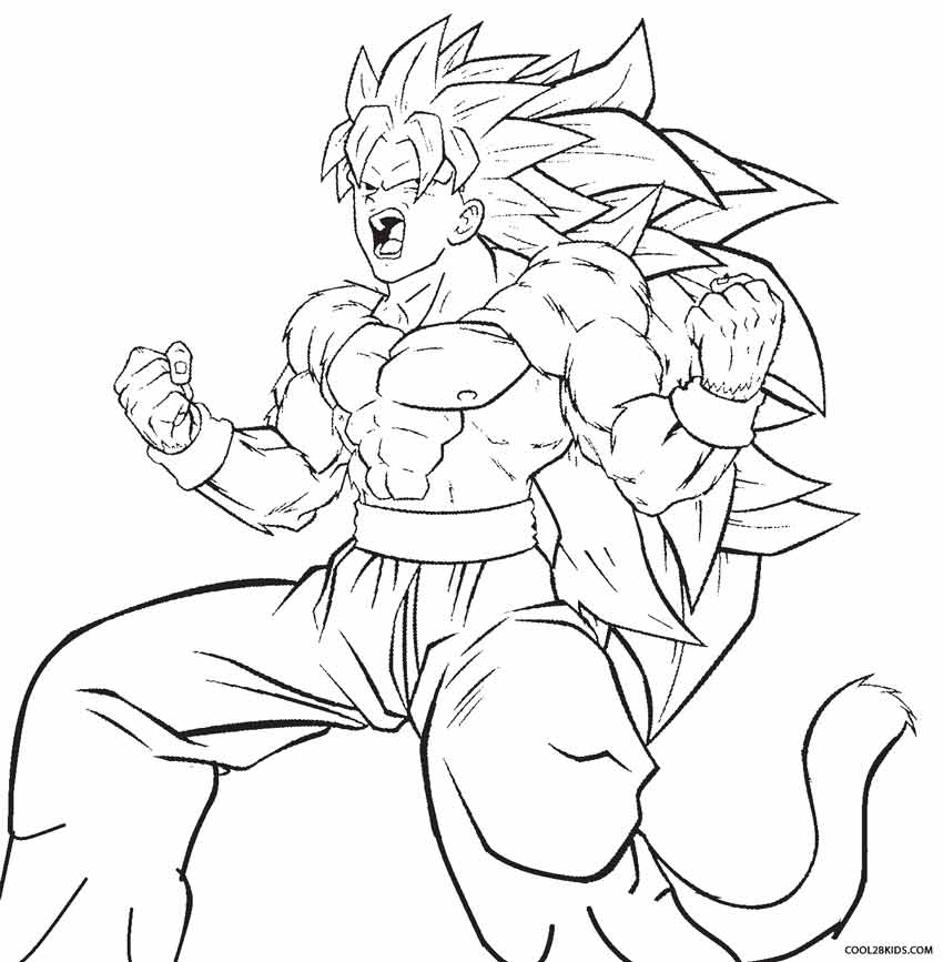 850x867 Printable Goku Coloring Pages For Kids