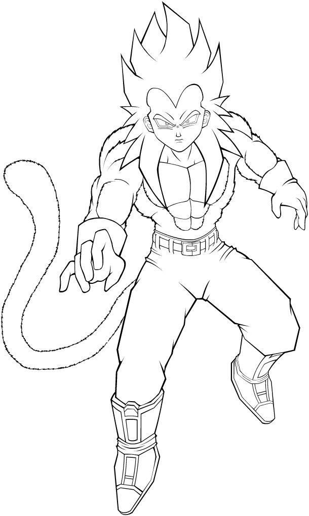 610x1020 Goku Coloriage Pour Mon P'tit Mec Goku