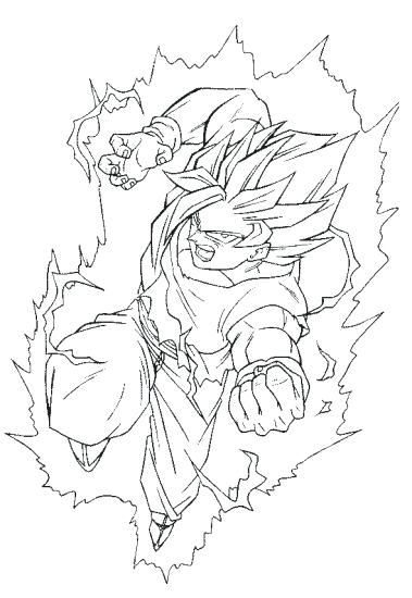 379x550 Amazing Goku Coloring Pages And Back To Post Goku Coloring
