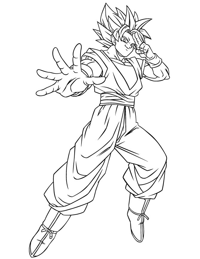 670x867 Beautiful Goku Para Colorear Coloring Ws