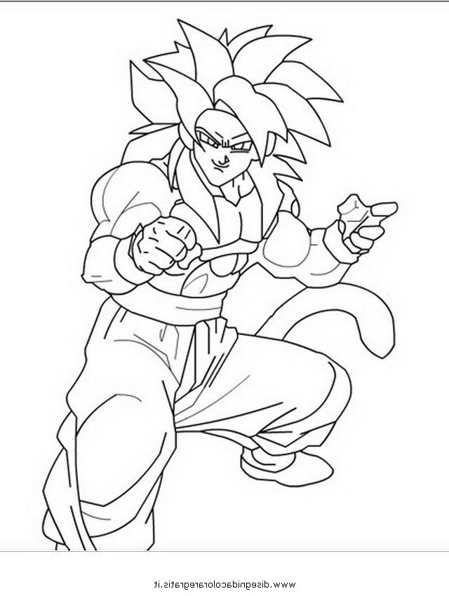 640x850 Coolest Goku Coloring Pages