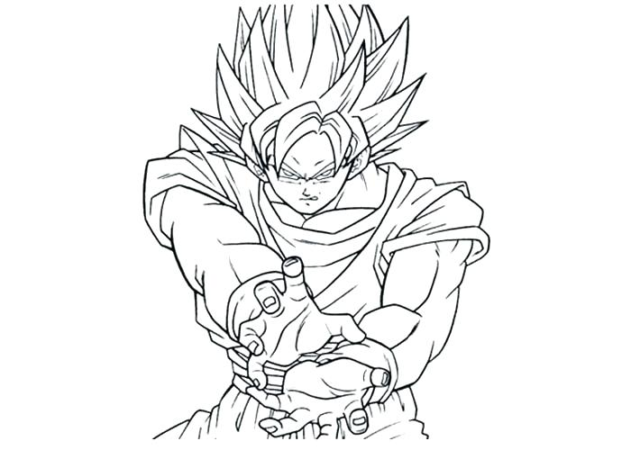 Goku Super Saiyan 2 Coloring Pages