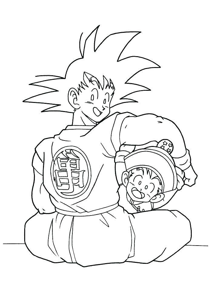 700x962 Dragon Ball Z Goku Super Saiyan Coloring Pages Printable