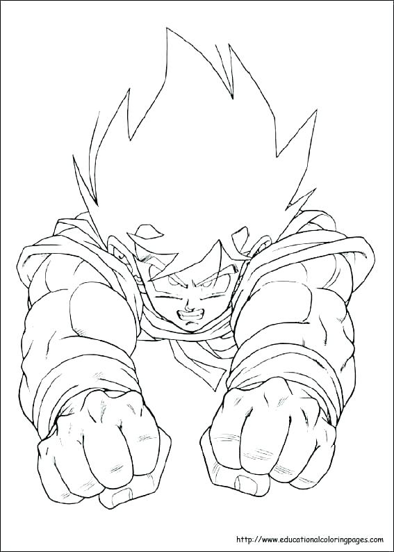 567x794 Goku Coloring Page Coloring Pages Printable Awesome Dragon Ball Z