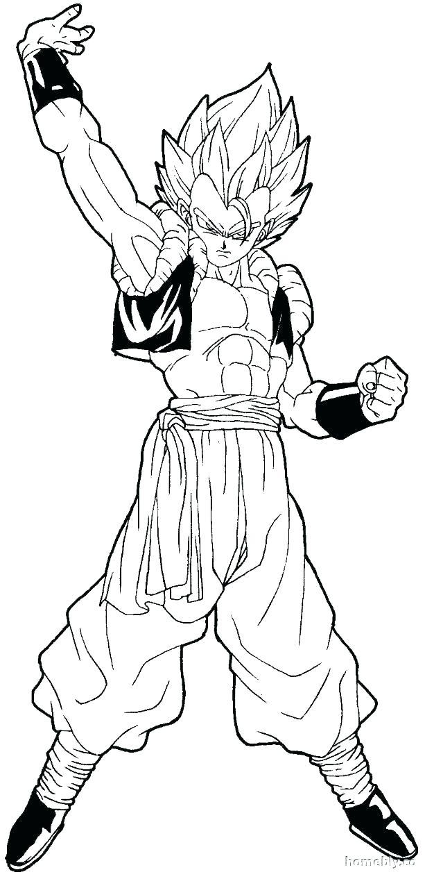 613x1266 Goku Super Saiyan Coloring Pages Coloring Goku Super Saiyan God