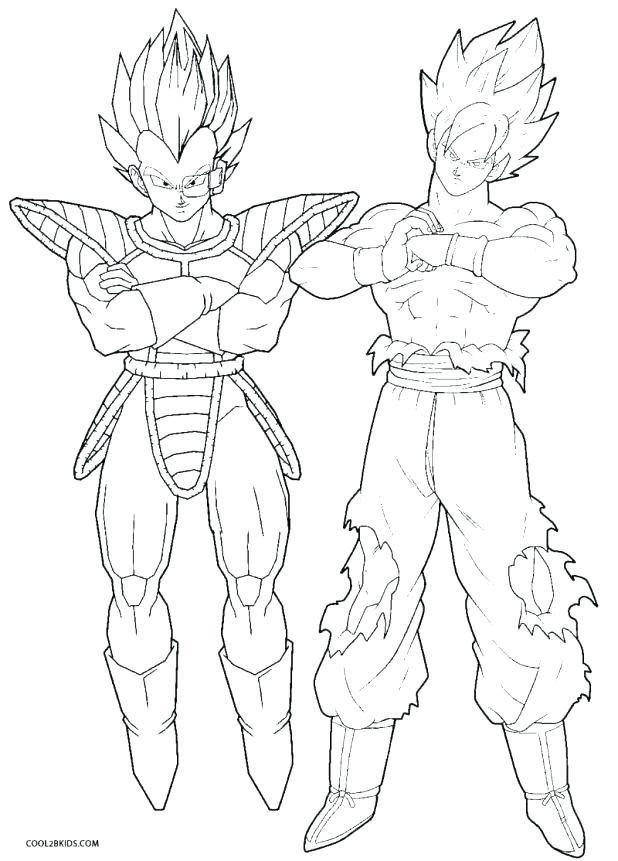 618x861 Goku Super Saiyan Coloring Pages Wonderful God