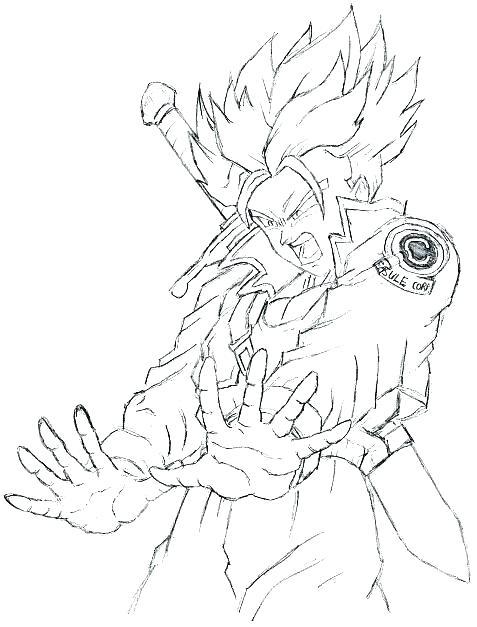 477x627 Goku Super Saiyan Coloring Pages Coloring Sheets Dragon Ball Z