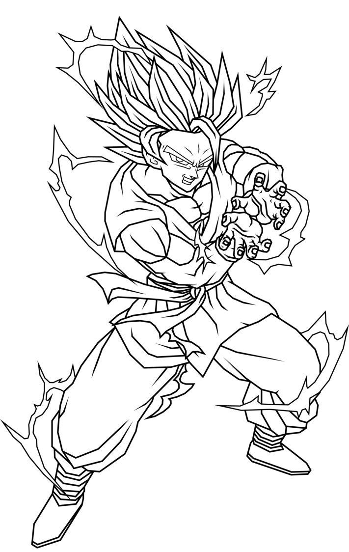 711x1124 Last Chance Goku Super Saiyan Coloring Pages