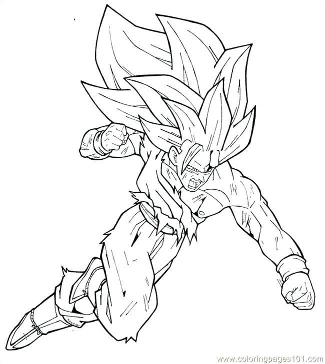 650x729 Plus Dragon Ball Z Coloring Pages Dragon Ball Z Goku Super Saiyan