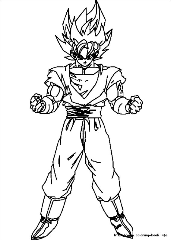 567x794 Super Saiyan Son Goku Dragon Ball Coloring Pages